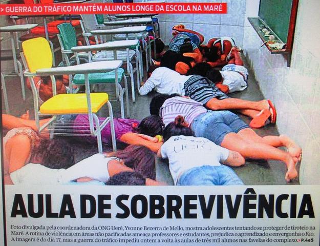 brasiliens gewaltkultur 2013 tausende sch ler von rio de janeiro ohne unterricht wegen gewalt. Black Bedroom Furniture Sets. Home Design Ideas
