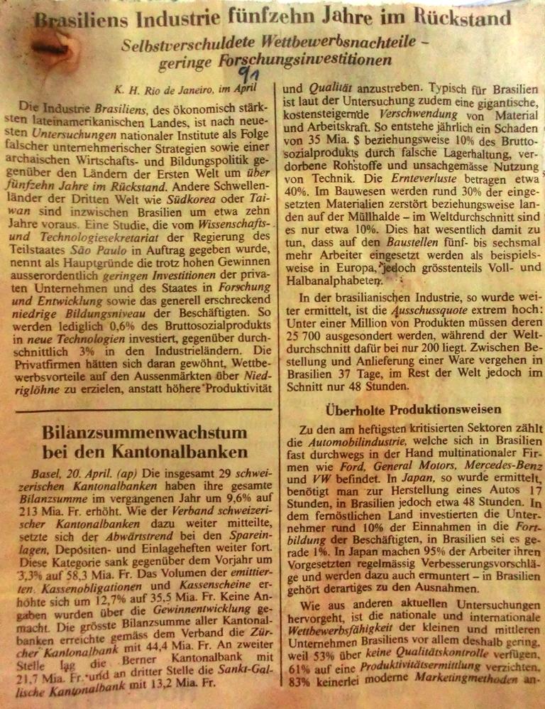 NZZIndustrieBrasilien19911